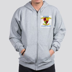 3rd Battalion 5th Marines with Text Zip Hoodie
