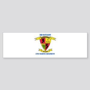 3rd Battalion 5th Marines with Text Sticker (Bumpe