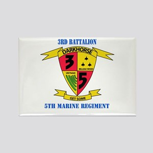 3rd Battalion 5th Marines with Text Rectangle Magn
