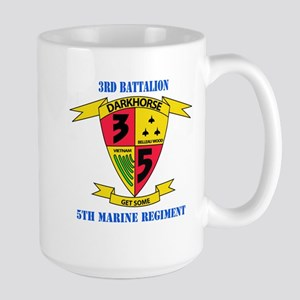 3rd Battalion 5th Marines with Text Large Mug