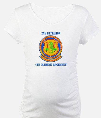 2nd Battalion 4th Marines with Text Shirt