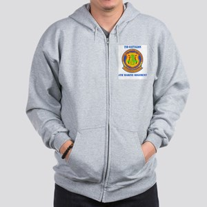 2nd Battalion 4th Marines with Text Zip Hoodie