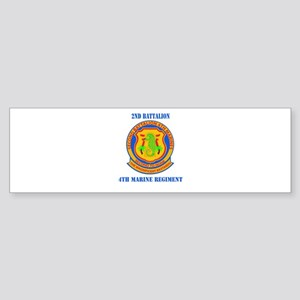 2nd Battalion 4th Marines with Text Sticker (Bumpe