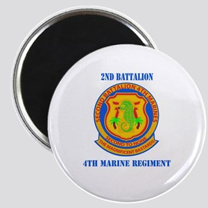 2nd Battalion 4th Marines with Text Magnet
