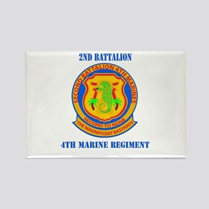 2nd Battalion 4th Marines with Text Rectangle Magn