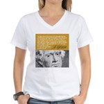 THOMAS JEFFERSON Women's V-Neck T-Shirt