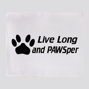 Live Long And Pawsper Throw Blanket