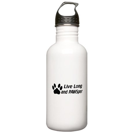 Live Long And Pawsper Stainless Water Bottle 1.0L