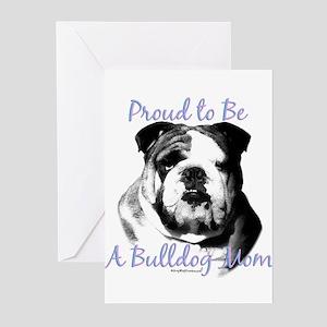 Bulldog 3 Greeting Cards (Pk of 10)