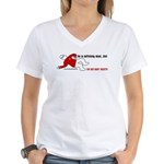 Red Shirt Society Women's V-Neck T-Shirt