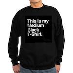Medium Black T-Shirt Sweatshirt (dark)