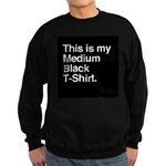 Medium Black T-Shirt Sweatshirt (dark)