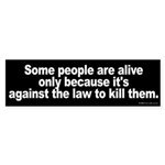 Against the Law Bumper Sticker
