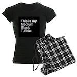 Medium Black T-Shirt Women's Dark Pajamas