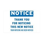 Notice! Thank You for... 38.5 x 24.5 Wall Peel