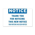 Notice! Thank You for... 22x14 Wall Peel