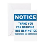 Notice! Thank You for... Greeting Card