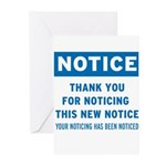 Notice! Thank You for... Greeting Cards (Pk of 10)