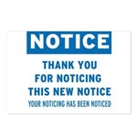 Notice! Thank You for... Postcards (Package of 8)