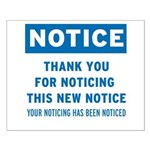 Notice! Thank You for... Small Poster