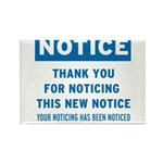 Notice! Thank You for... Rectangle Magnet (100 pac