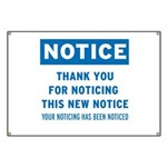 Notice! Thank You for... Banner