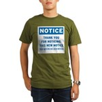 Notice! Thank You for... Organic Men's T-Shirt (da
