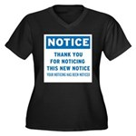 Notice! Thank You for... Women's Plus Size V-Neck