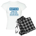 Notice! Thank You for... Women's Light Pajamas