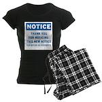 Notice! Thank You for... Women's Dark Pajamas