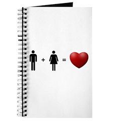 Man + Woman = LOVE Journal