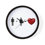 Man + Woman = LOVE Wall Clock