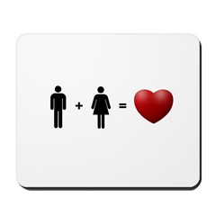 Man + Woman = LOVE Mousepad