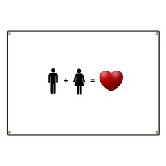 Man + Woman = LOVE Banner