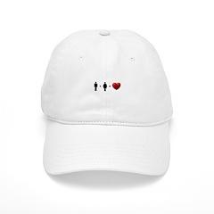 Man + Woman = LOVE Baseball Cap
