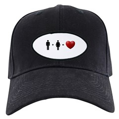 Man + Woman = LOVE Baseball Hat