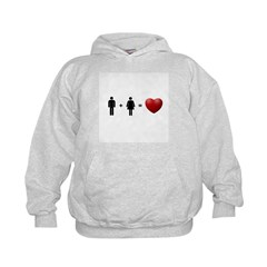 Man + Woman = LOVE Hoodie
