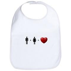 Man + Woman = LOVE Bib