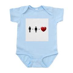 Man + Woman = LOVE Infant Bodysuit
