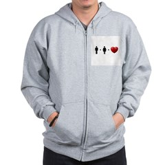 Man + Woman = LOVE Zip Hoodie