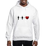 Man + Woman = LOVE Hooded Sweatshirt