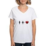 Man + Woman = LOVE Women's V-Neck T-Shirt
