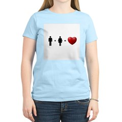 Man + Woman = LOVE Women's Light T-Shirt