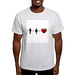 Man + Woman = LOVE Light T-Shirt