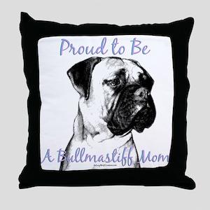 Bullmastiff 2 Throw Pillow