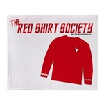 Red Shirt Society Throw Blanket