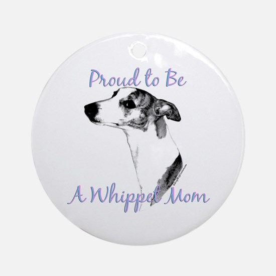Whippet 2 Ornament (Round)