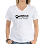 Howlin' Frequencies are Open Women's V-Neck T-Shir