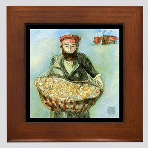 Bagel Man - Framed Tile