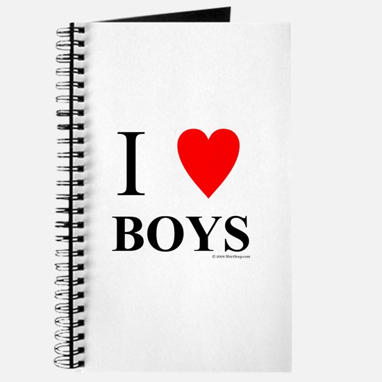 "I ""Heart"" Boys Journal"